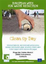 Affiche mise à disposition pour une opération de nettoyage.