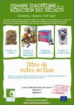 Exemple d'affichette de promotion pour une action commune.